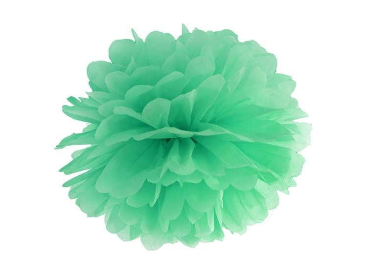 Grön Pom Poms