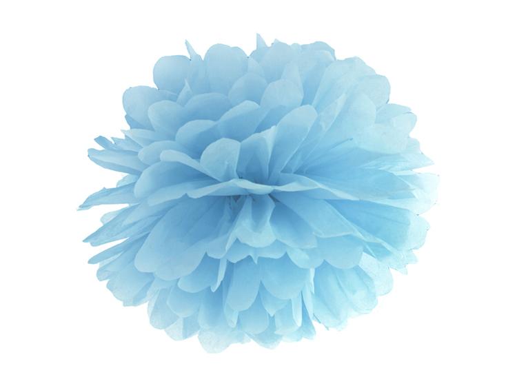 Blåa Pom Poms