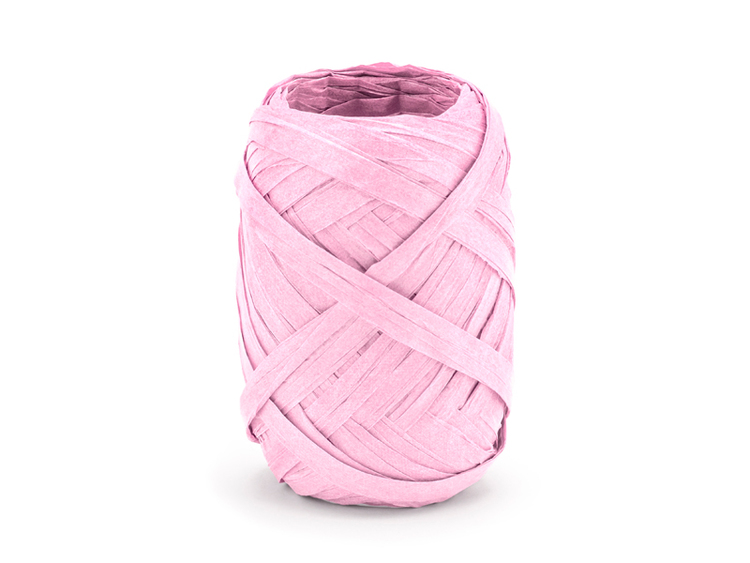 raffia snöre rosa