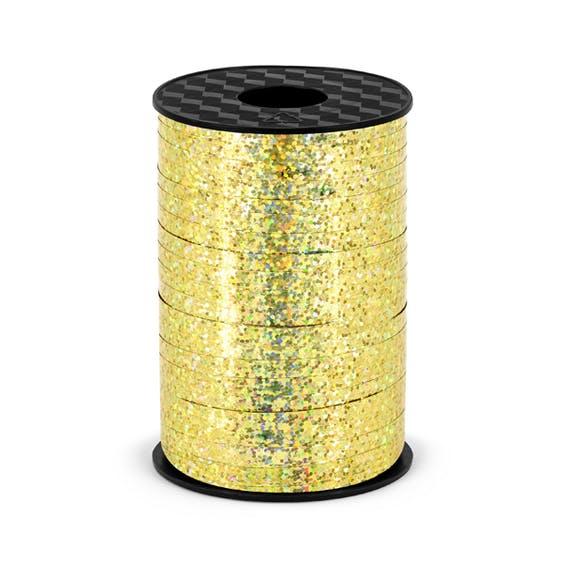 Ballongsnöre, holografisk guld