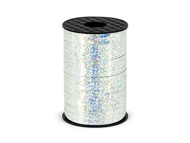 Ballongsnöre, holografisk silver