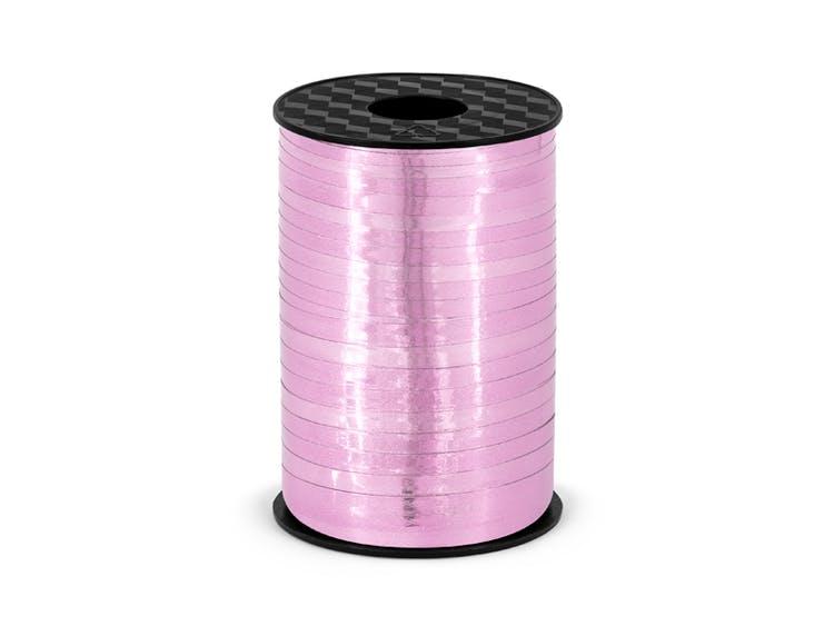 Ballongsnöre, metallic rosa