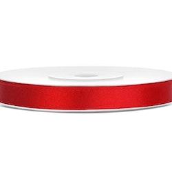 Satinband, röd