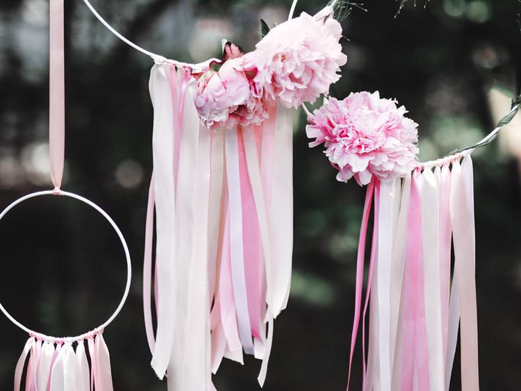 Satinband bred, rosa