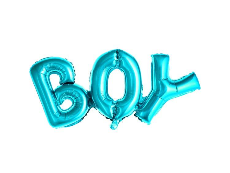 Ballong boy blå