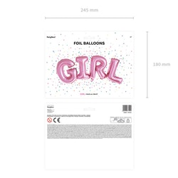 Folieballong, girl, rosa