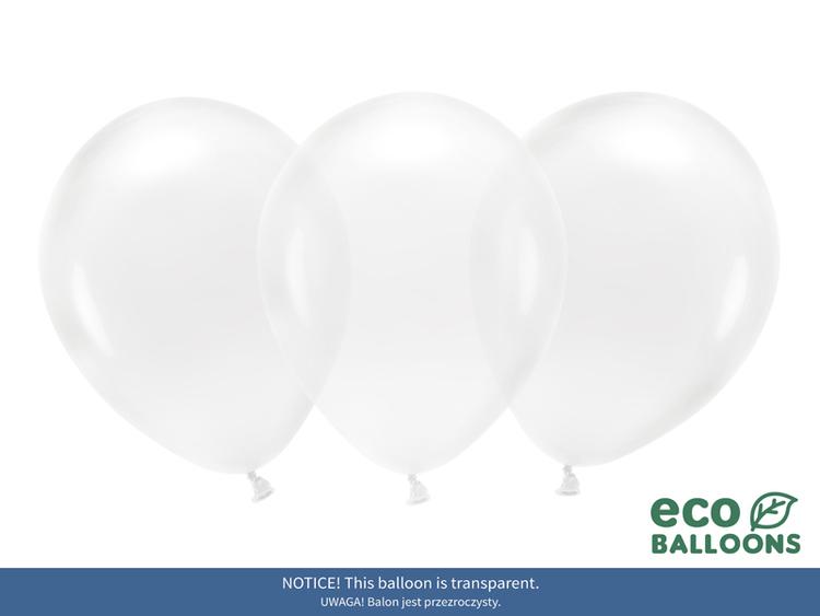 Ballong EKO, transparent, 10-pack