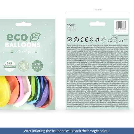 Ballong EKO, metallic färgmix, 10-pack