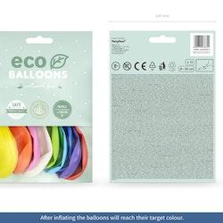 Ballong EKO, pastell färgmix, 10-pack