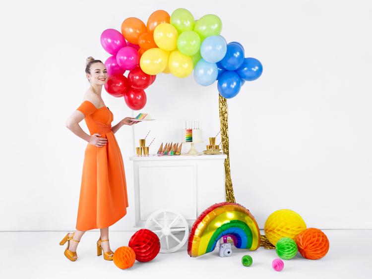 Folieballong, regnbåge