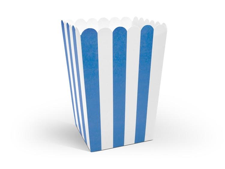 Popcornbox blå