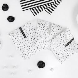 Godispåse, svart-vit, 6-pack