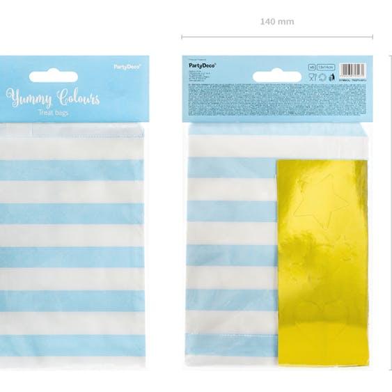 Godispåse, ljusblå, 6-pack
