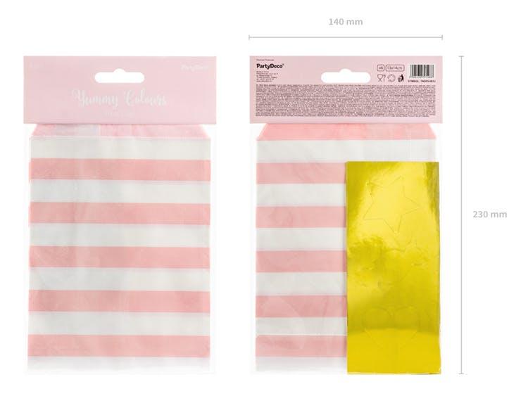 Godispåse, rosa, 6-pack