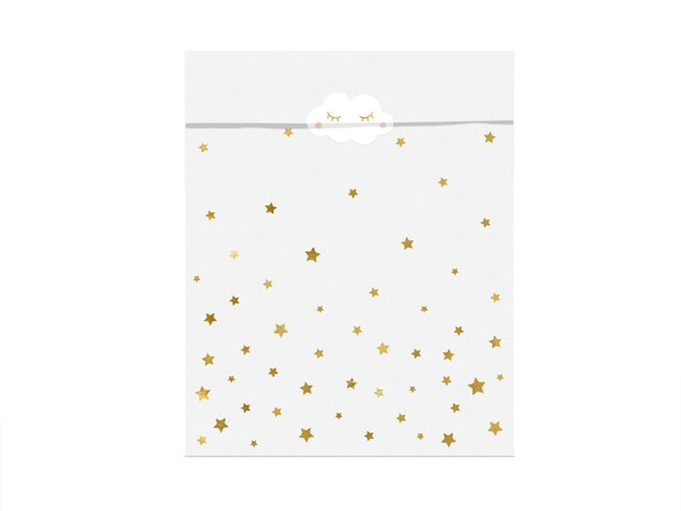 Godispåse, guldstjärnor, 6-pack