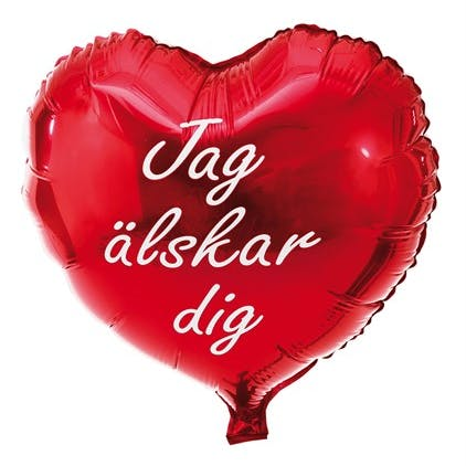 Ballong jag älskar dig