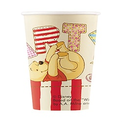 Pappmugg, Nalle Puh, 8-pack