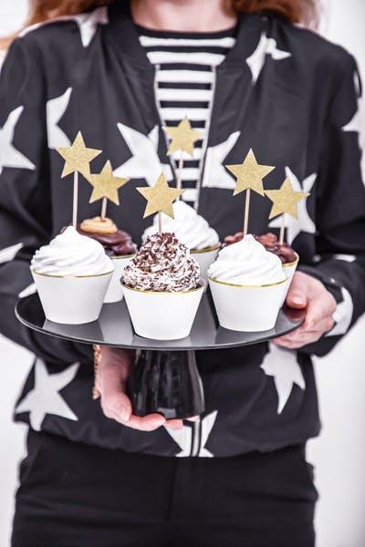 Cake picks, guldstjärna, 6-pack