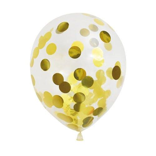 konfettiballong i guld