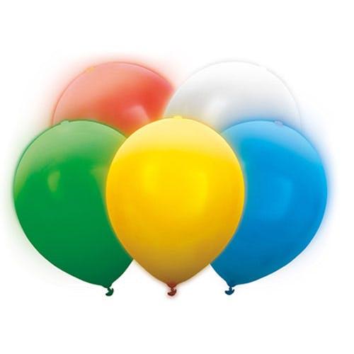 Lysande LED-ballonger färgmix