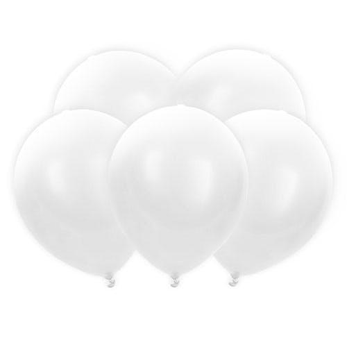 Lysande vita LED-ballonger
