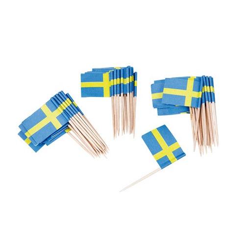 Partypicks svenska flaggan