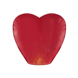 Himmelslykta, hjärta, röd