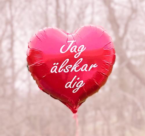 jag älskar dig ballong