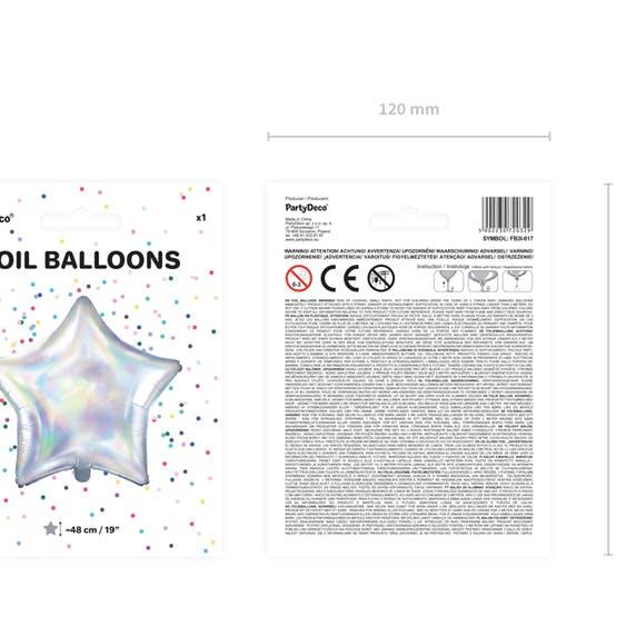 Folieballong, stjärna, iridescent