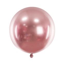 Ballong, stor, roséguld