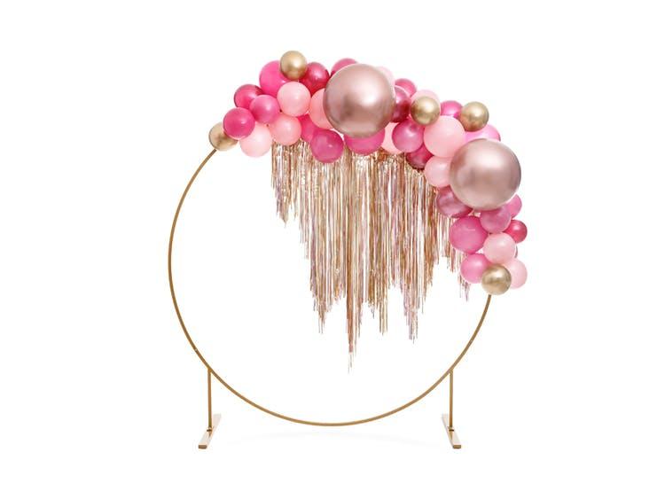 Ballong, stor, glossy roséguld