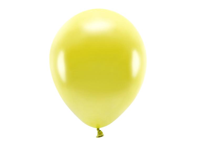 Ballong EKO, metallic gul, 10-pack