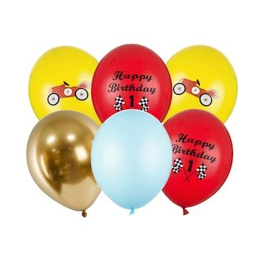 Ballong, bilar mix, 6-pack