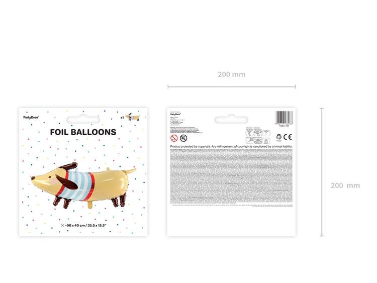 Folieballong, tax hund