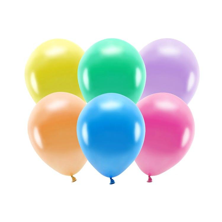 Ballong EKO, metallic färgmix, 100-pack