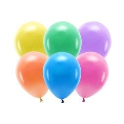 Ballong EKO, pastell färgmix, 100-pack