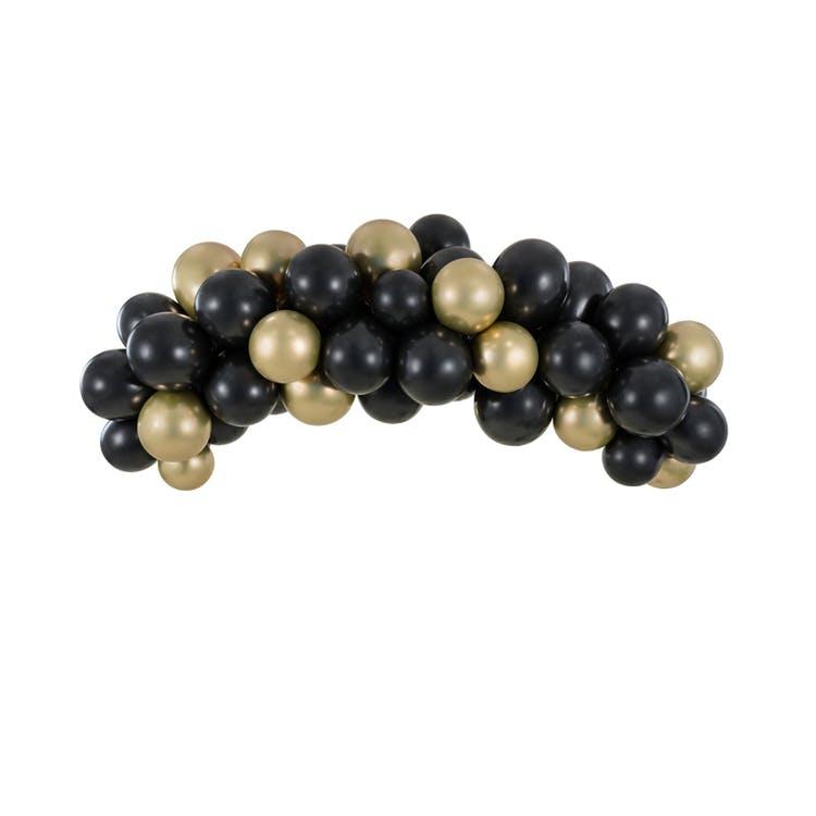 ballongbåge svart och guld