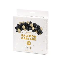 Ballongbåge, svart & guld