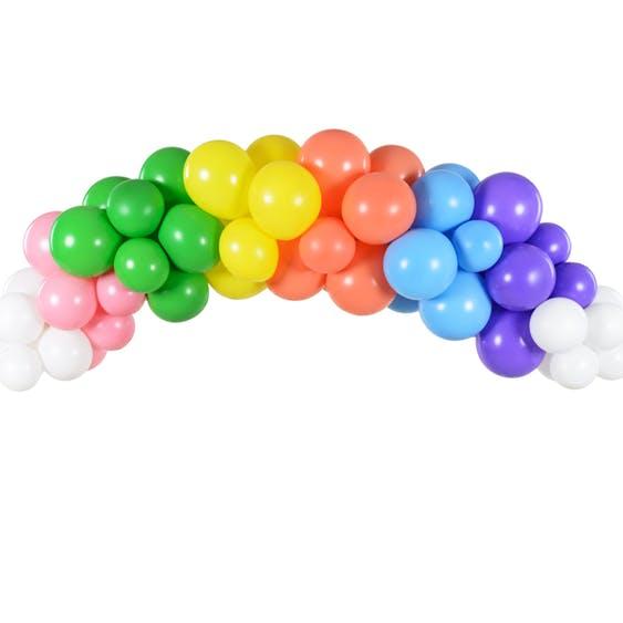 regnbågsfärgad ballongbåge