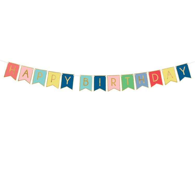 Happy Birthday vimpel girlang