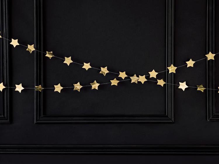Girlang, stjärnor, guld