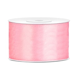 Satinband extra bred, rosa