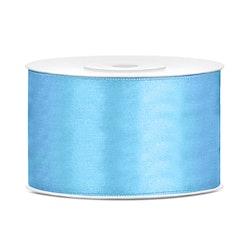 Satinband extra bred, ljusblå