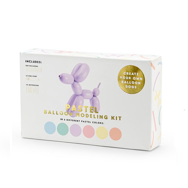 Figurballong, pastellmix, 30-pack med pump