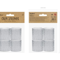 Creperulle, silver, 4-pack
