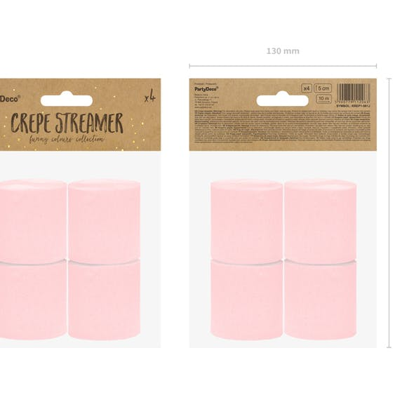 Creperulle, rosa, 4-pack