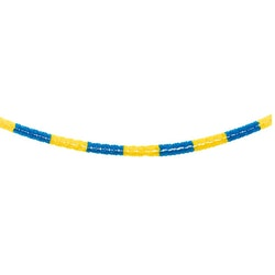 Pappersgirlang, gul & blå