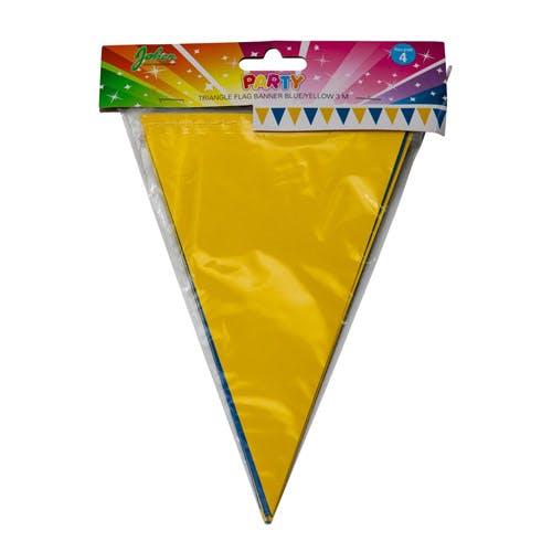 flaggvimpel gul och blå