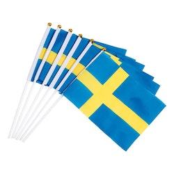 Handflagga, Sverige - 6-pack