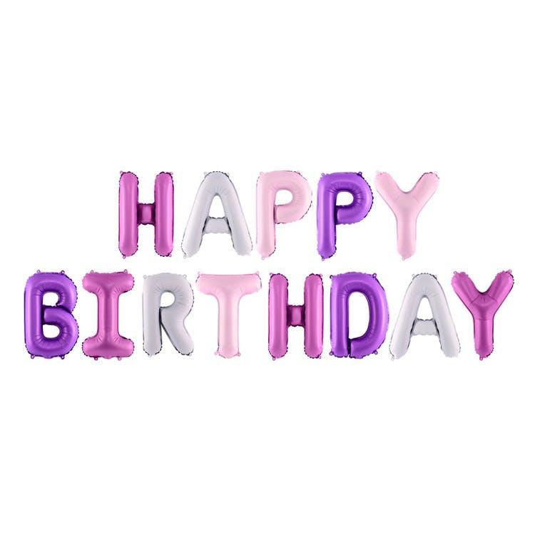 Happy Birthday ballonggirlang rosa
